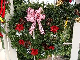 Fresh evergreen wreath by Hillermann Nursery & Florist