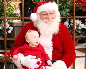 Santa and baby picture