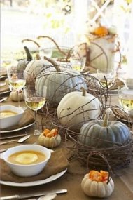 Fall Table setting and centerpieces